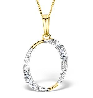 9k gold diamond initial o pendant 005ct initials pendants and 9k gold diamond initial o pendant 005ct aloadofball Choice Image