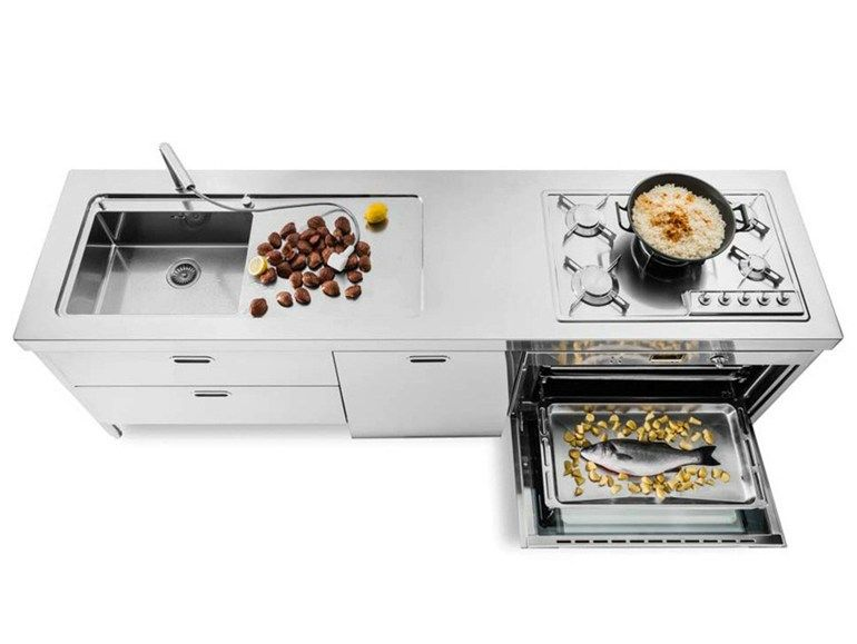 CUCINA 250 Stainless steel kitchen by ALPES-INOX   kitchen ...