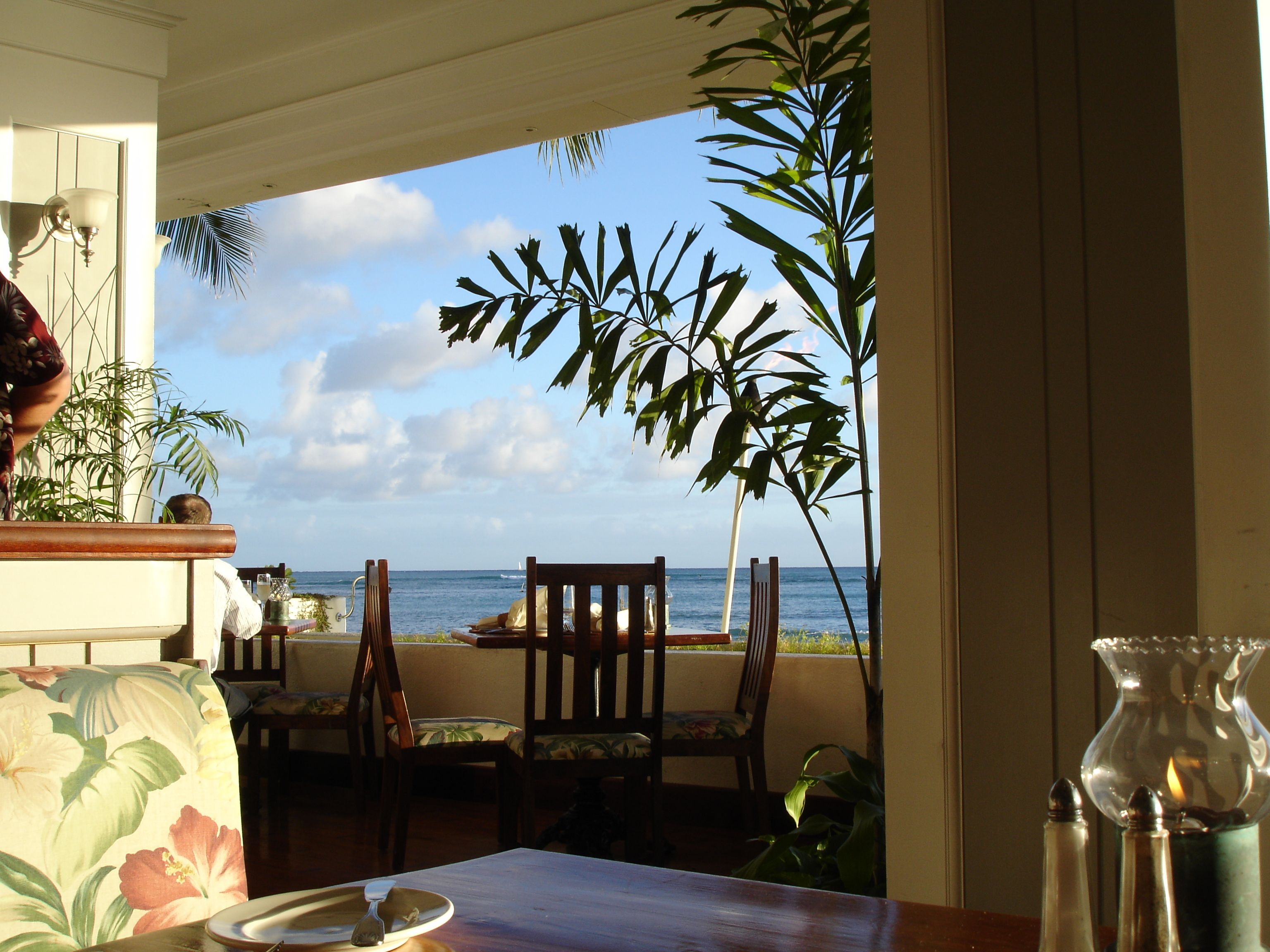 During Our Honeymoon We Went To Ocean Front Restaurant At Outrigger Reef Hotel The Food
