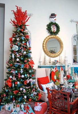 epbot festival of trees 2015 aka the best christmas tree ideas to steal - Teal And Red Christmas Decorations