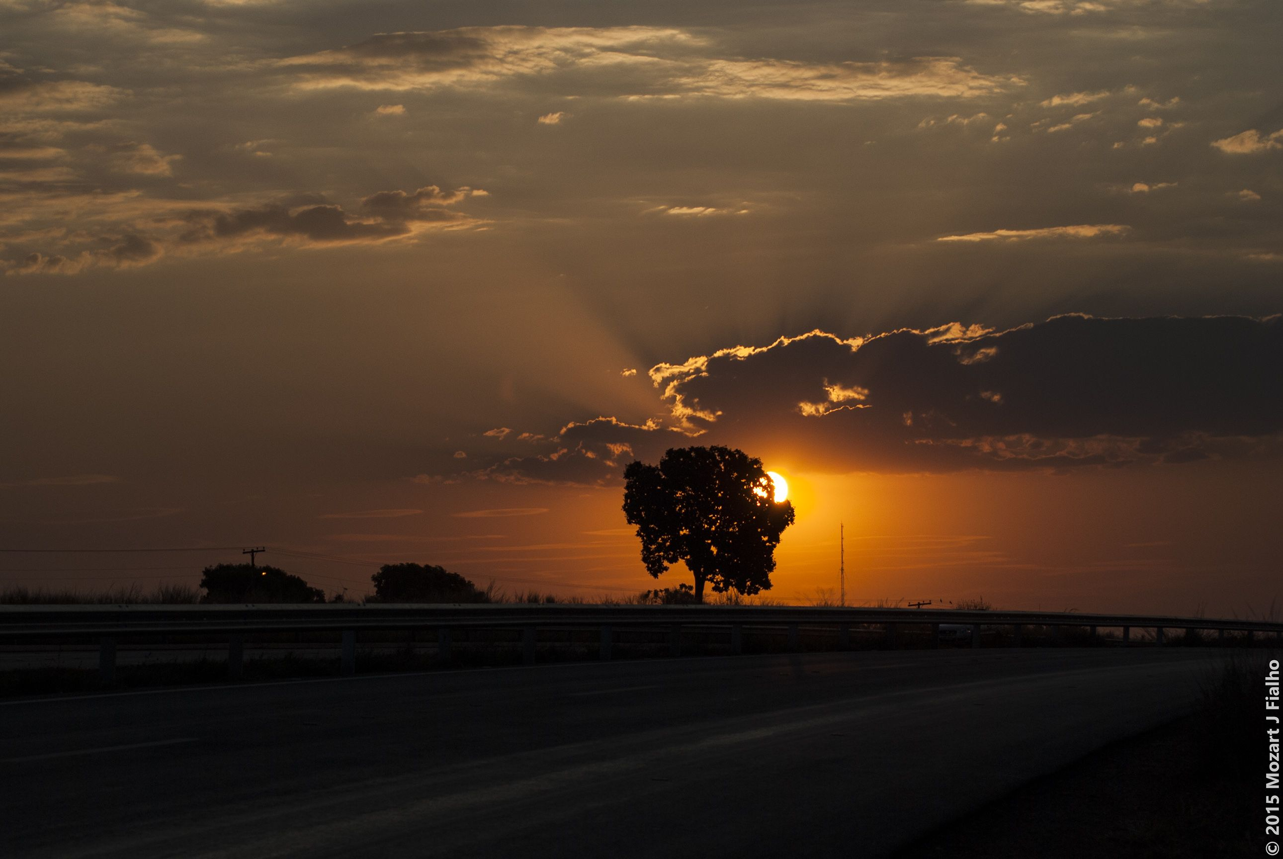 Sunset from the highway.
