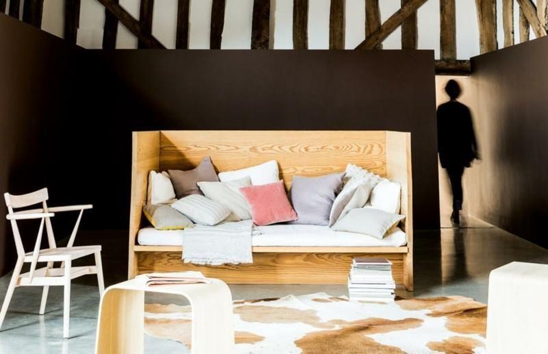 Moderne Ideen des Salons von braunen Wänden ...