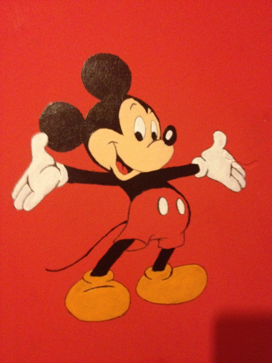 Mickey Mouse Wall Painting By Adrianfegan Deviantart Com All