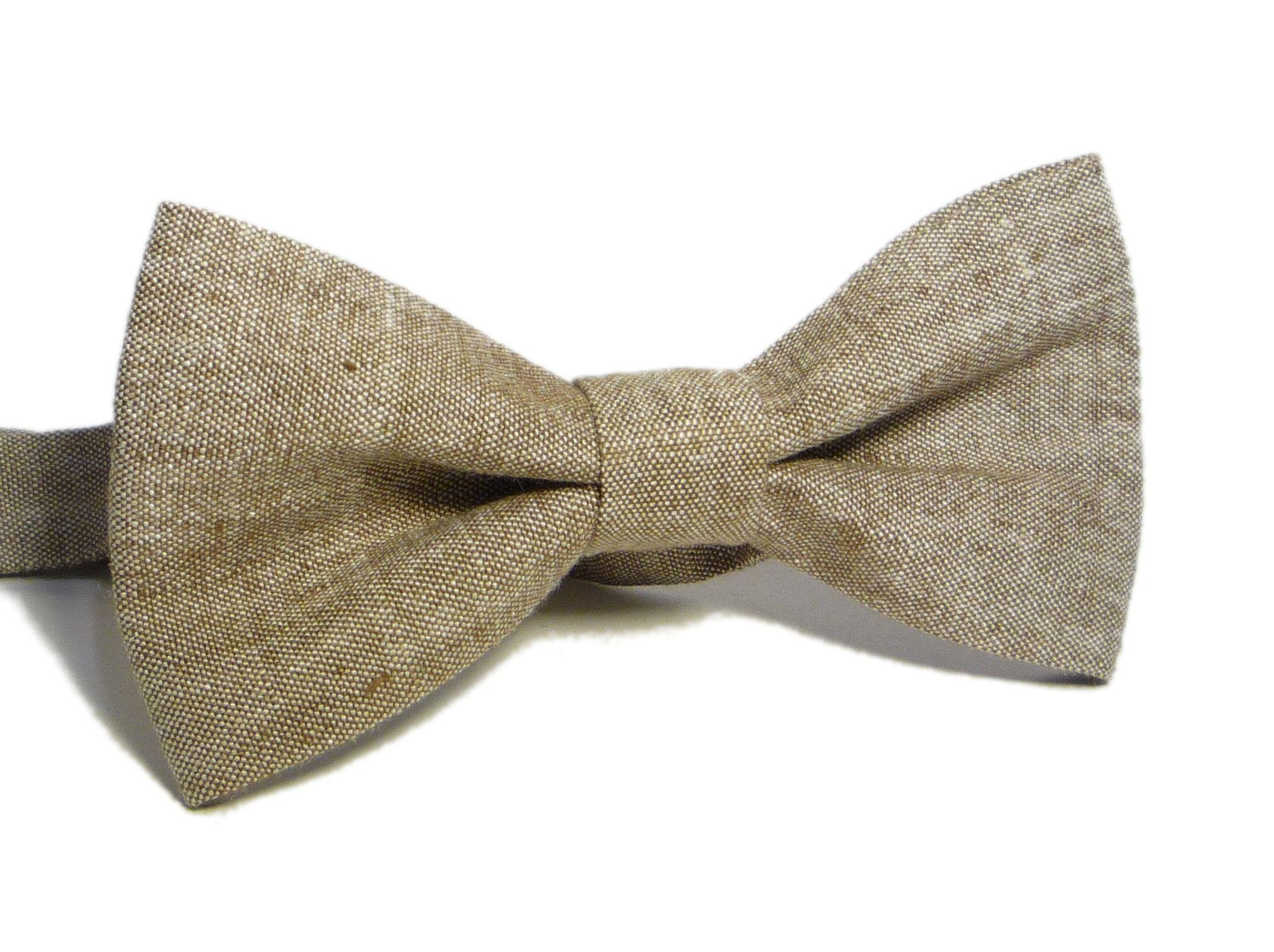 light brown bow tie brown bow tie wedding bow tie groomsmen bow