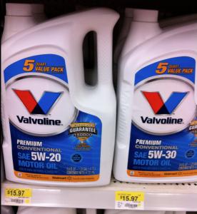 Walmart Deal Valvoline 5qt Jug only 10.97 after Coupon