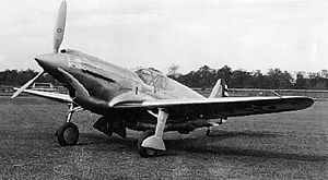 The Curtiss XP-46 was a 1940s United States prototype fighter aircraft. It was a development of the Curtiss-Wright Corporation in an effort to introduce the best features found in European fighter aircraft in 1939 into a fighter aircraft which could succeed the Curtiss P-40, then in production.