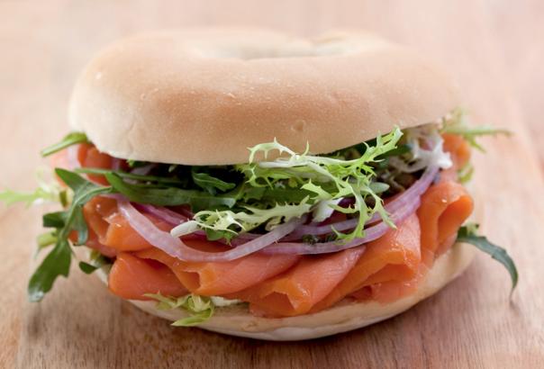 Sandwich de salmon ahumado :P