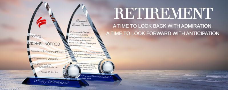 Unique Retirement Plaques With Sample Award Wording Ideas
