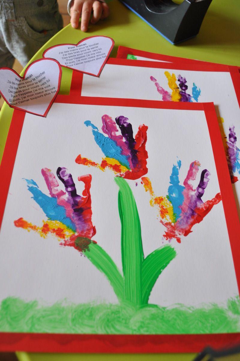 Bouquet de mains pour la rentr e activit printemps pinterest bricolage - Bricolage de printemps ...