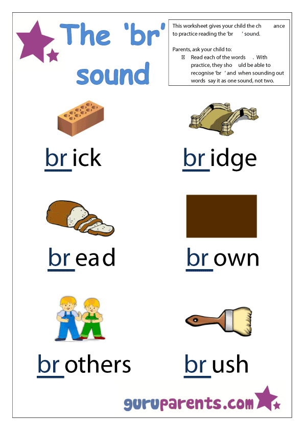 Letter B Worksheets teaching language – Blends Worksheets for Kindergarten