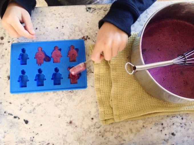 tinypeasant.com | nourishing grape + elderberry gelatin gummies | LEGO ice cube tray