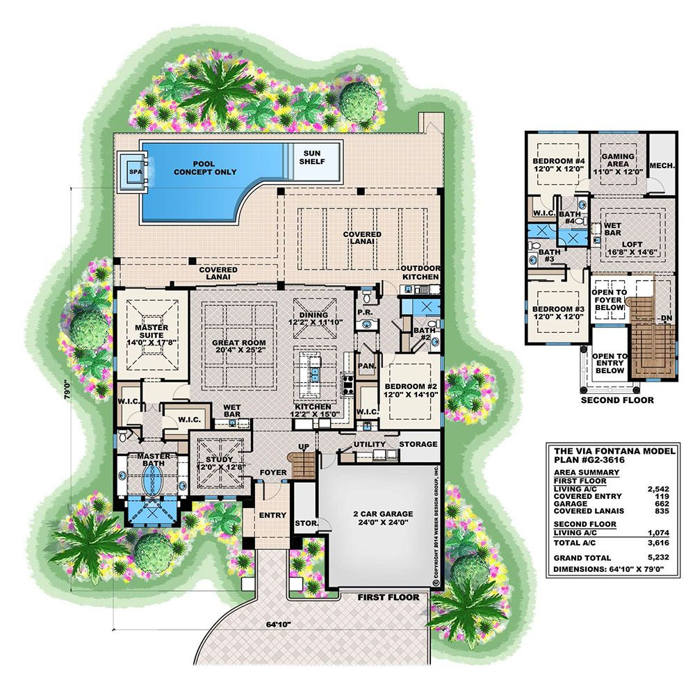 seascape house plan weber design group inc floor plans