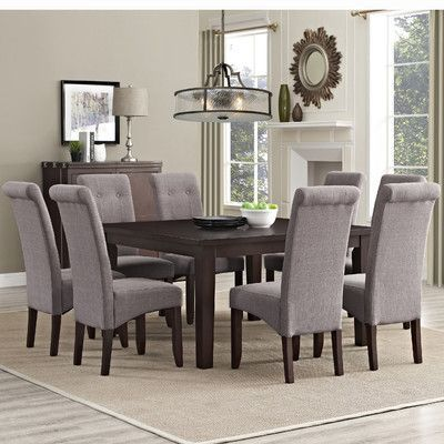 Simpli Home Eastwood 9 Piece Dining Set & Reviews  Wayfair Brilliant 9 Pc Dining Room Sets 2018