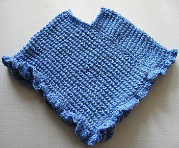free knitted doll poncho pattern   KIDS PONCHO KNITTING ...