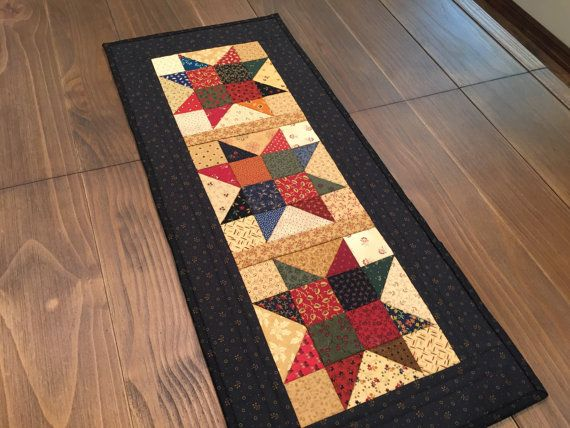 Quilted Table Runner / Country Quilt / Primitive / By QuiltedByVal