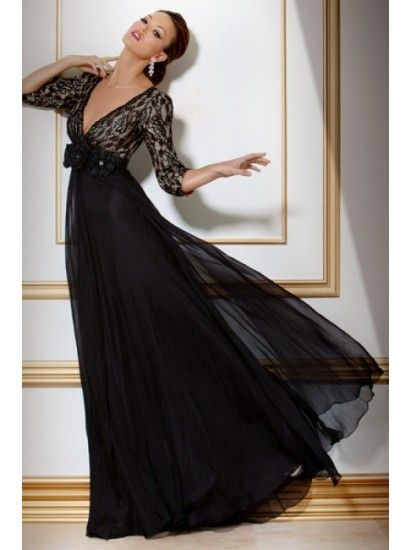 675fdfeb4c9 Home black lace evening dress evening gown evening wear custom made ...