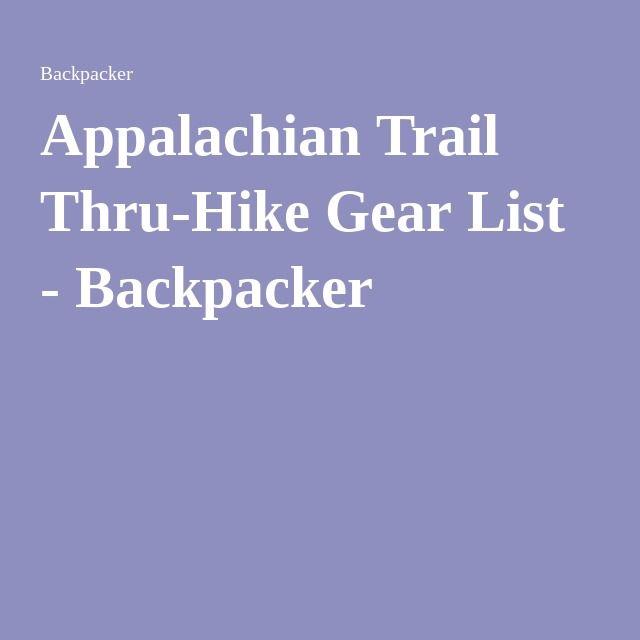 Photo of Appalachian Trail Thru-Hike Gear List