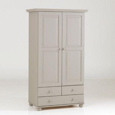 Armoire pin massif, 2 portes penderie, 3 tiroirs, Harold, La Redoute ...