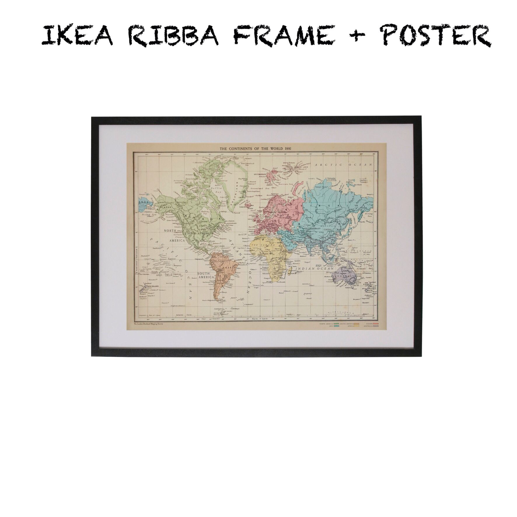 Ikea ribba frame world map poster decoraties pinterest ikea ribba frame world map poster gumiabroncs Gallery