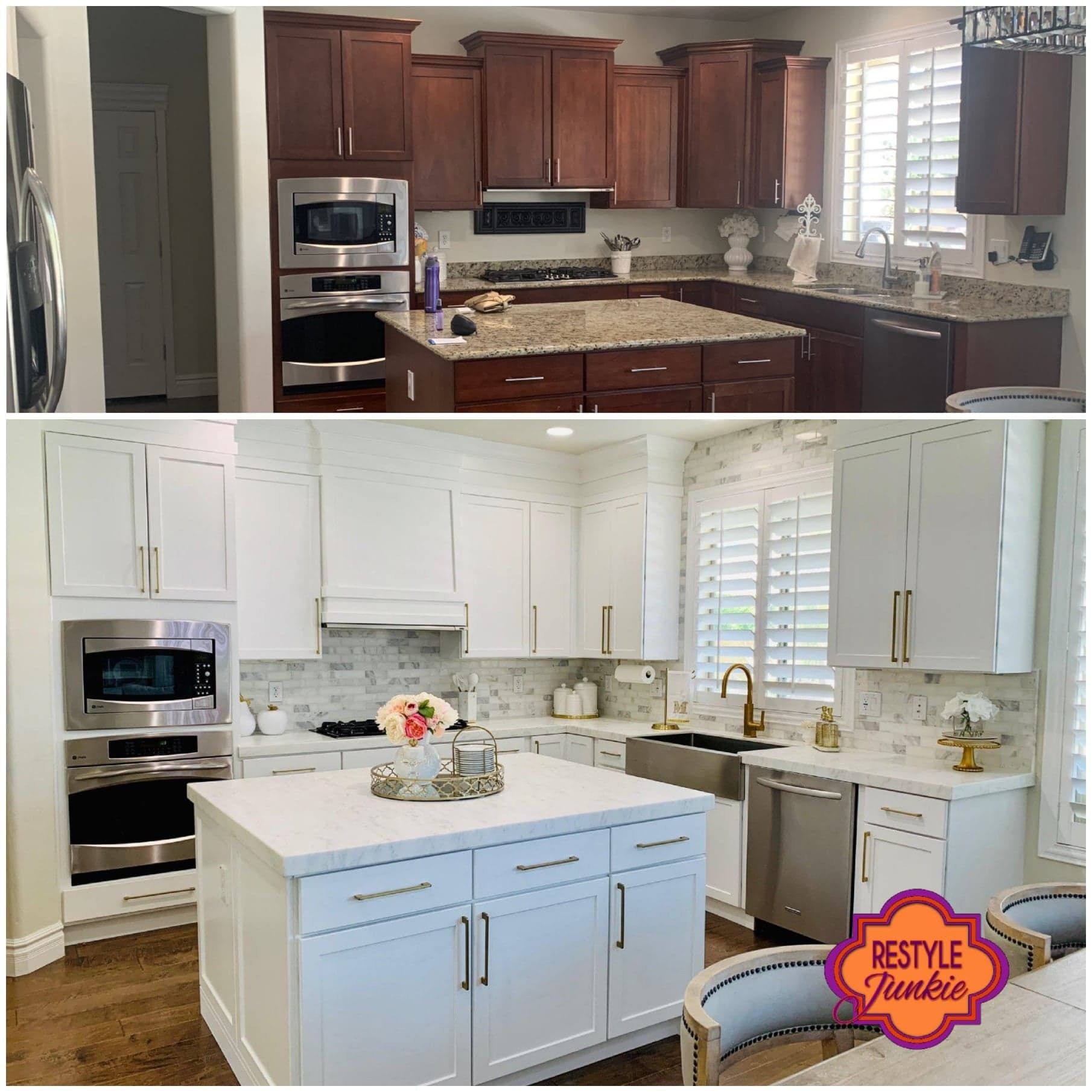 Professional Cabinet Painting And Refinishing Services Restyle Junkie In 2020 Kitchen Cabinet Styles Modern White Kitchen Cabinets Kitchen Interior Design Modern