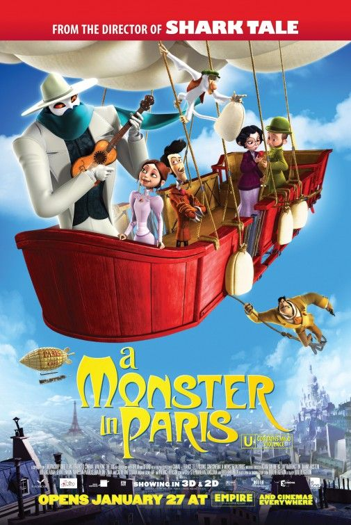 A Monster In Paris With Images Animated Movie Posters Movies