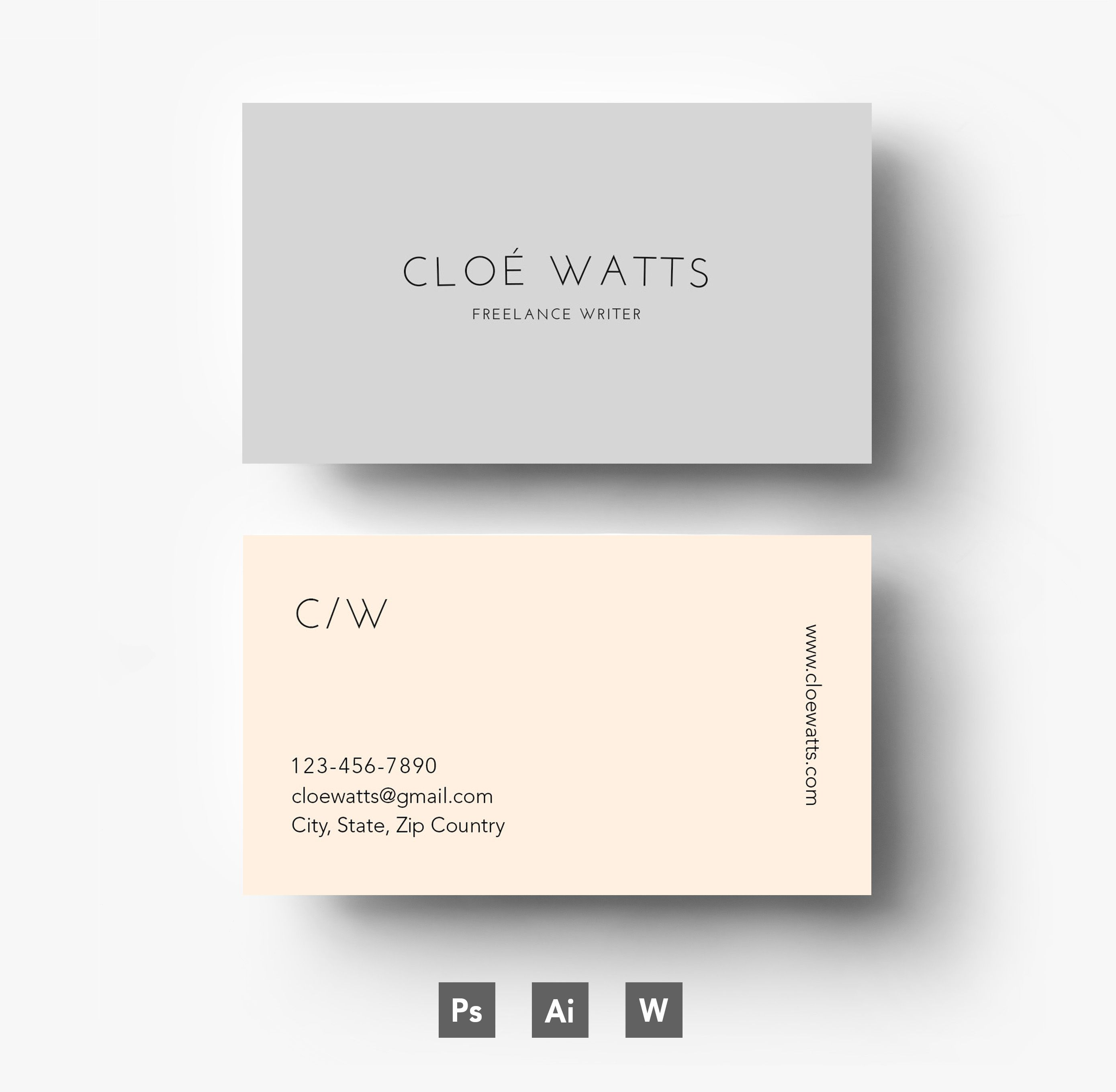 Modern Business Card Template By Emilys ART Boutique On Creative - Template for business card