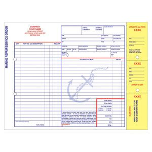 Marine Repair Service Order  Mechanic Shop    Service