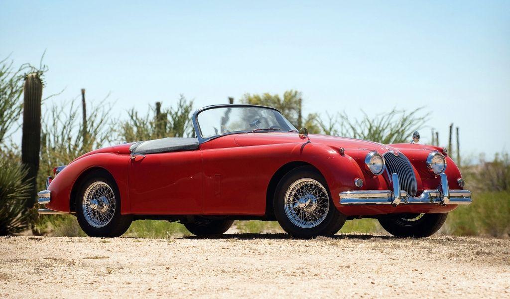 Jaguarcars Red Classic Jaguar Car Hd Wallpaper Wallpapers Hd