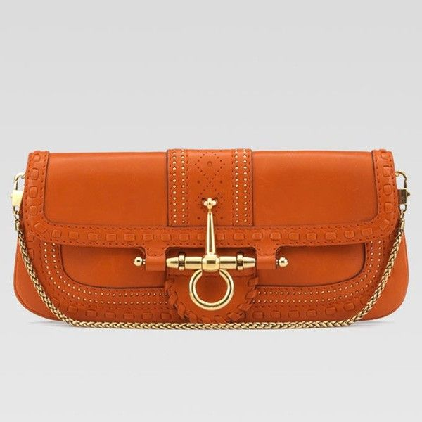 d12b0f66ac7 Gucci Snaffle Bit Evening Bag 263984 Orange