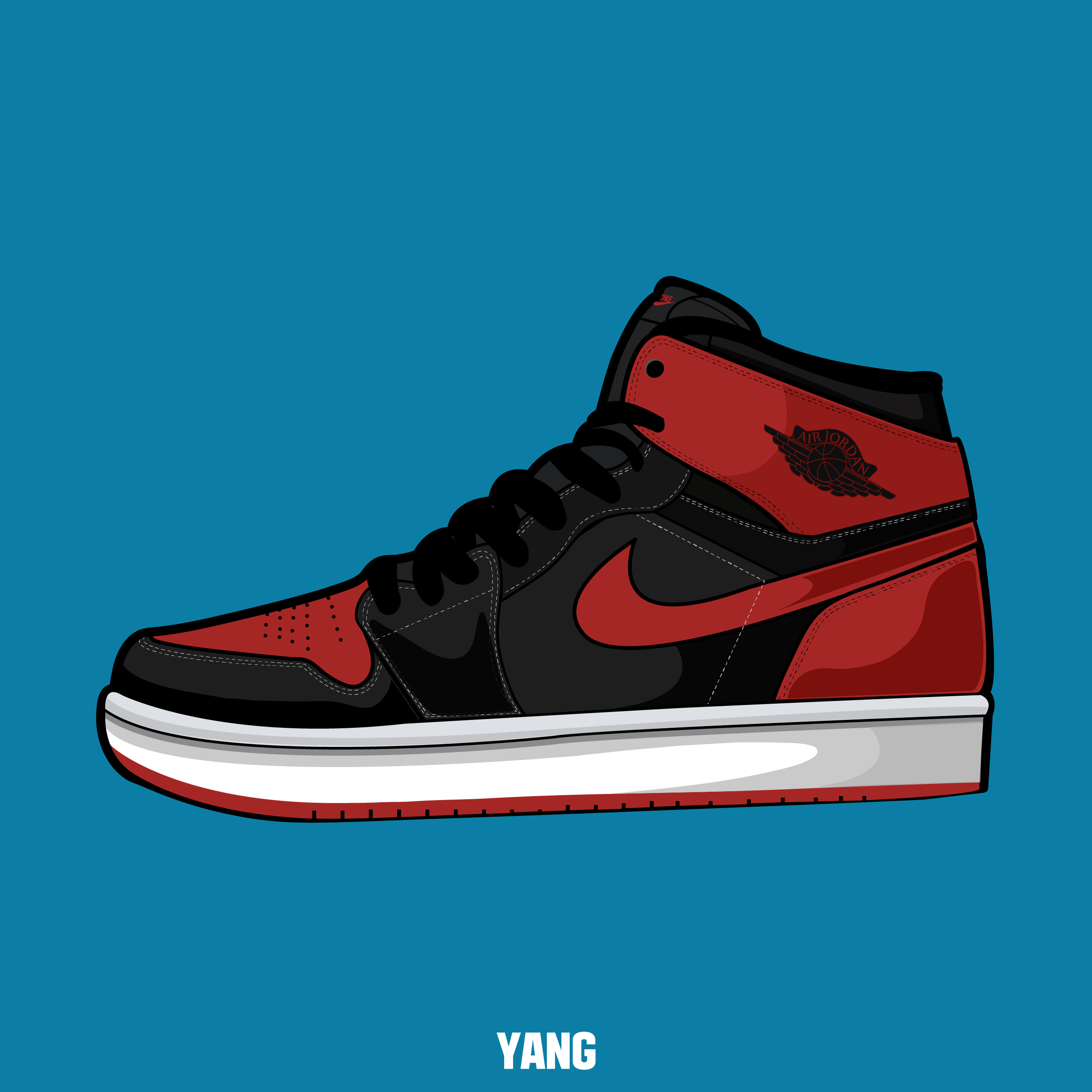 drawing, shoes, sneakers, nike, air, jordan,graphic, design,