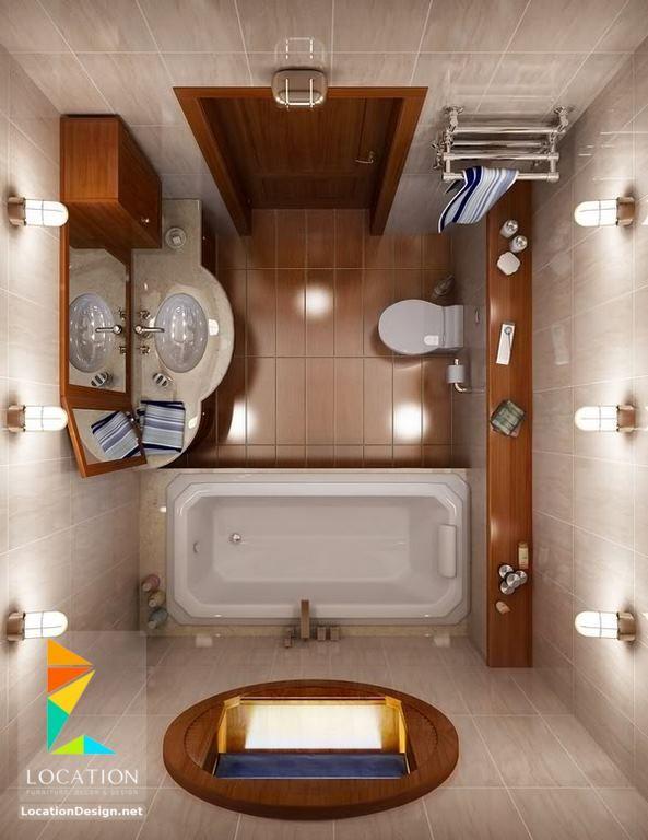 ديكورات حمامات صغيرة المساحة 50 تصميم حمامات مودرن بأفكار رائعة جدا Small Space Bathroom Design Bathroom Design Small Small Bathroom Layout