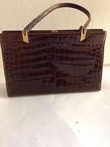 Mark Cross Handbags Vintage Genuine Mark Cross Alligator Purse Handbag Made In France Purses And Handbags Alligator Purse How To Make Handbags