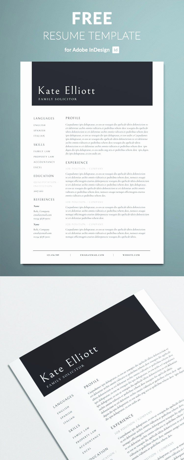 25 Professional Resume Template Free in 2020 Resume