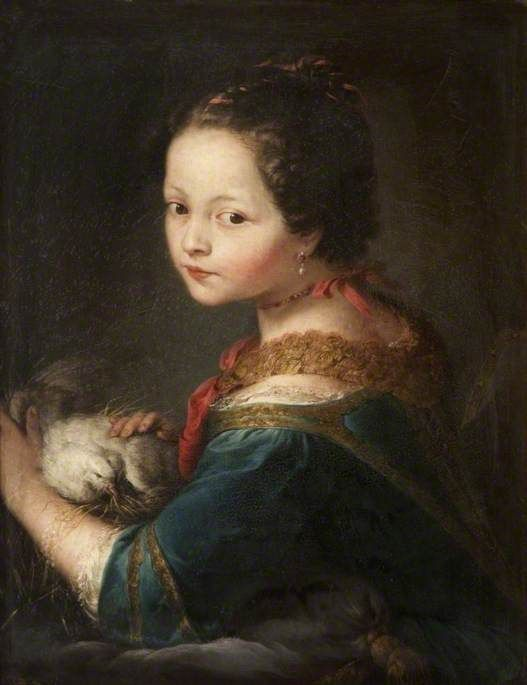 Girl with a Dove Anton Raphael Mengs