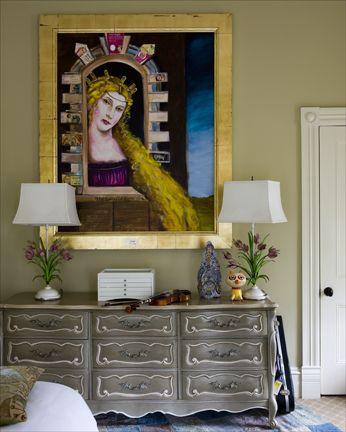 dresser details painted lighter color