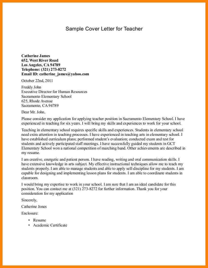 4 Easy Tips To Write A Teacher Cover Letter Example Letter To Teacher Teacher Cover Letter Example Application Letter For Teacher