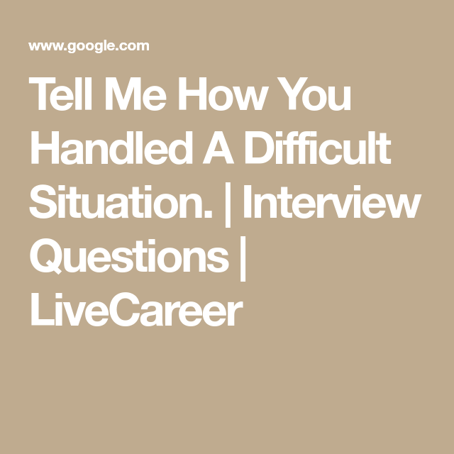 interview questions difficult situation