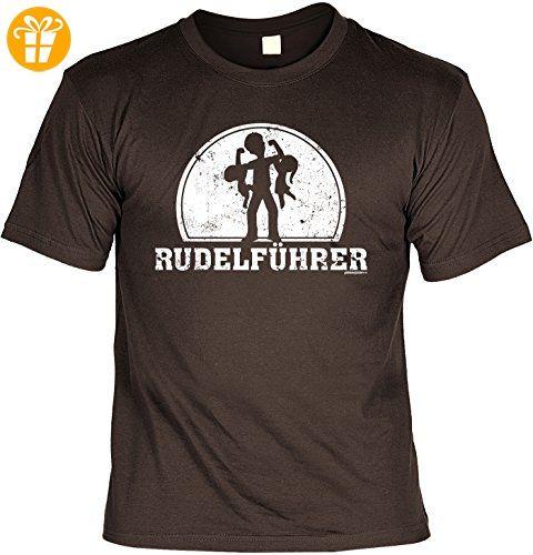 Sprüche T-Shirt Vater - cooles für Papa : Rudelführer -- Geschenk T-Shirt  Vatertag Geburtstag Farbe: braun Gr: 3XL