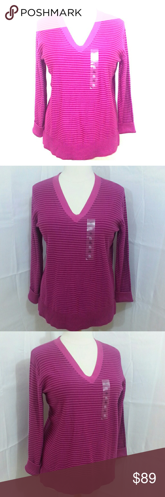 TOMMY HILFIGER V-NECK Striped Sweater. NWT NWT | Tommy hilfiger ...