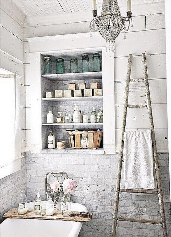 shabby chic bathroom decor | for the home | pinterest, Hause ideen