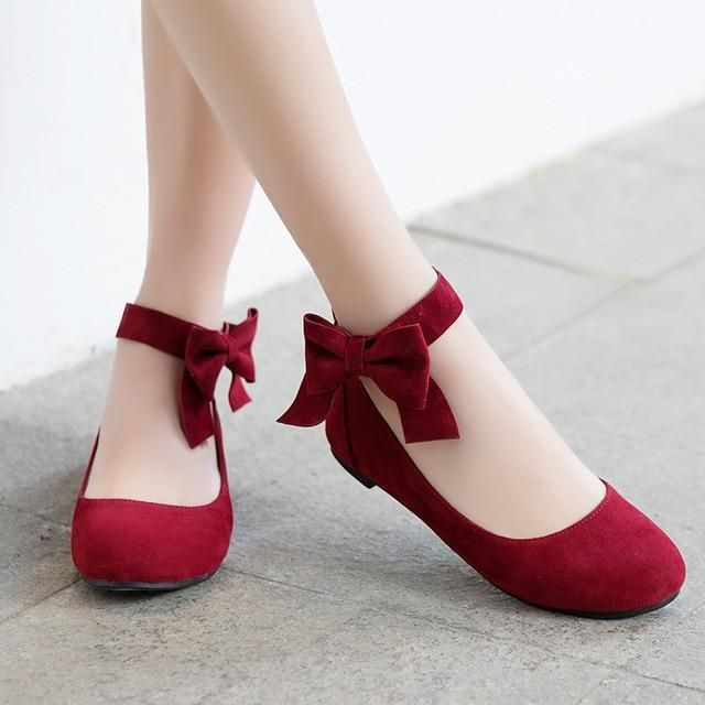 Odetina 2018 New Fashion Women Mary Janes Flats Bowknot Ankle Button Footware La...