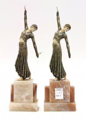 Sculptures, After Demetre Chiparus, Danseuse