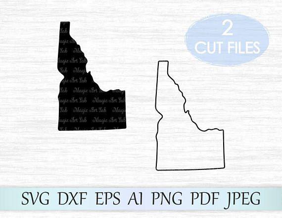 Idaho Outline Vector Clipart Idaho State - BerkshireRegion