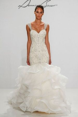 Dennis Basso - Sweetheart Fit and Flare in Beaded Embroidery ...