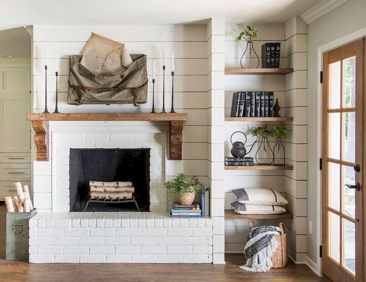 AuBergewohnlich 30+ Farmhouse Fireplace Designs That Will Keep Your House Warm And Chic