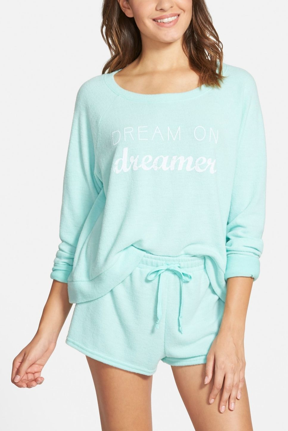 90dd2b42a851 This supercute mint pajama set is sure to stay cozy well after the rise and  shine.