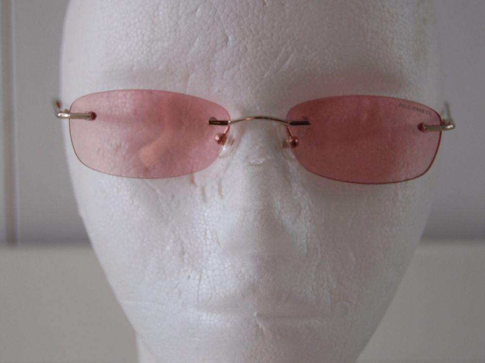 Retro 90 s RARE Ralph Lauren Polo Jeans Company Children Pink Fashion  Sunglasses  2de67932bcf15