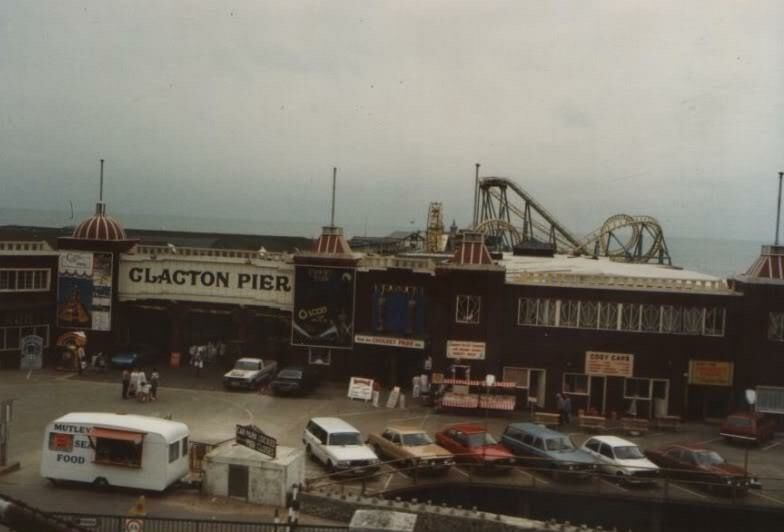 The Pier at Clacton-On-Sea Essex England in the 1970's