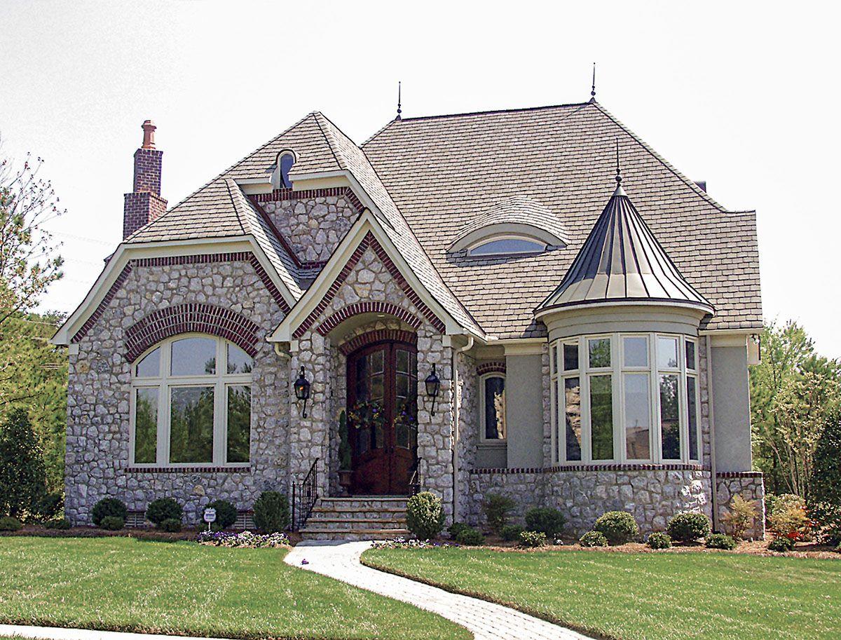 Plan 17687lv Mini Castle With Turret Castle House Plans Castle House Castle House Modern