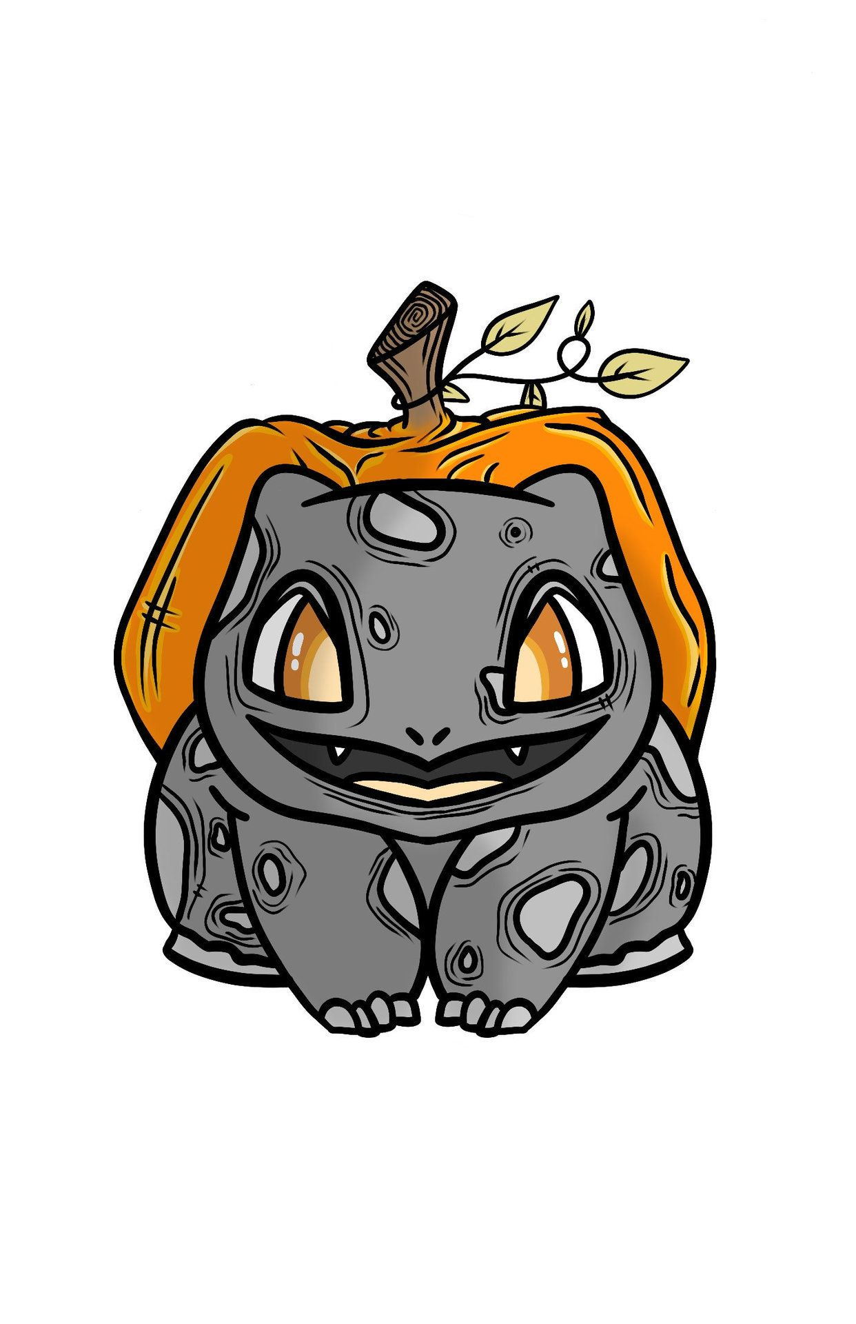 Halloween Starter Pokemon Stickers made by InkAndEcho -